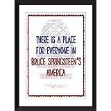 Bruce Springsteen America / Amerika-Zitat Ungerahmter Druck