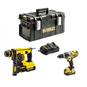 lot dewalt 2 outils 18v 4ah li ion marteau perforateur. Black Bedroom Furniture Sets. Home Design Ideas