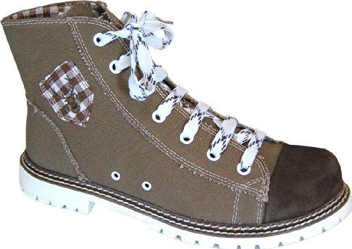 Spieth & Wensky Herren Trachten Canvas Sneaker , Boots JACK - braun/russ/d.braun
