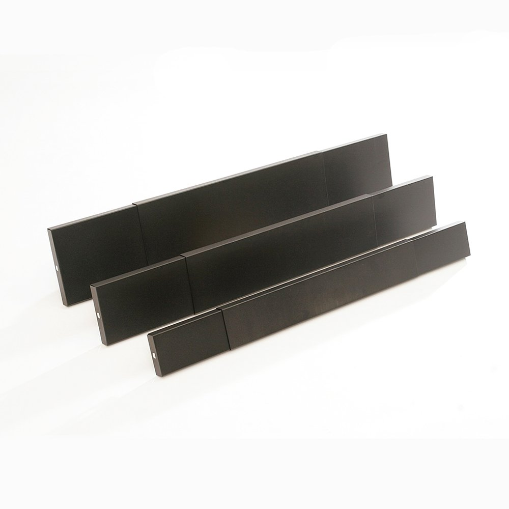 hy c smoke guard for 28 5 to 48 inch by 8 inch fireplaces black