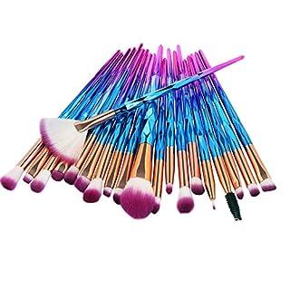 AMUSTER 20pcs Kosmetik Pinsel Make-up Pinsel Sets Verfassungs Bürsten Sat Kosmetik Komplett Eye Kit Make-up Pinsel Sets Kits Tools Werkzeuge Foundation Pinsel (One size, C)