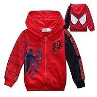 Nine Minow Boys Sweatshirt Children Spider-Man Pullover Hoodies Coat