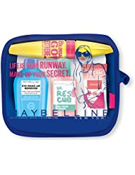 Maybelline - Summer kit idéal pour le voyage - Trousse + Mascara colossal Go extreme noir + blush dream fresh abricot + dissolvant ongle + eye make remover
