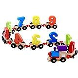 Satisfr Enfants Jouets Numérique Train En Bois Modèle Numérique Motif 0 ~ 9 Blocs Enfants Jouets Éducatifs Cadeaux