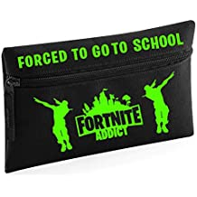 Fortnite Addict - Estuche para lápices de color negro con texto en inglés