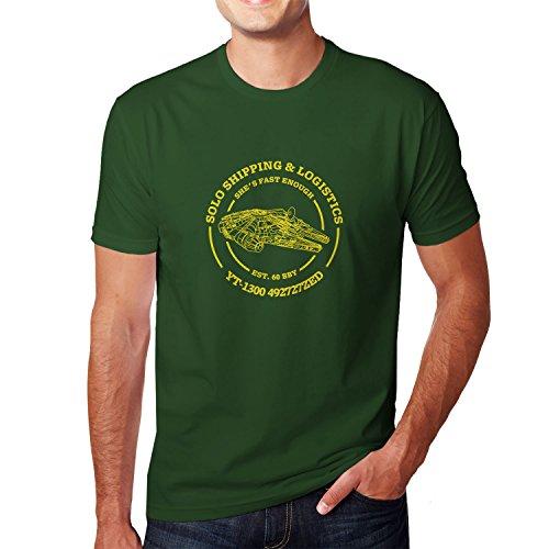 Solo Shipping & Logistics - Herren T-Shirt, Größe: M, Farbe: dunkelgrün