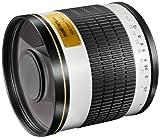 Walimex Pro 500mm 1:6,3 CSC Spiegel-Teleobjektiv für Fuji X Objektivbajonett weiß (für Vollformat Sensor gerechnet, Filterdurchmesser 34mm, inkl. Schutzdeckel)
