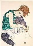 Póster 50 x 70 cm: Seated Woman with Bent Knee de Egon Schiele - impresión artística, Nuevo póster artístico