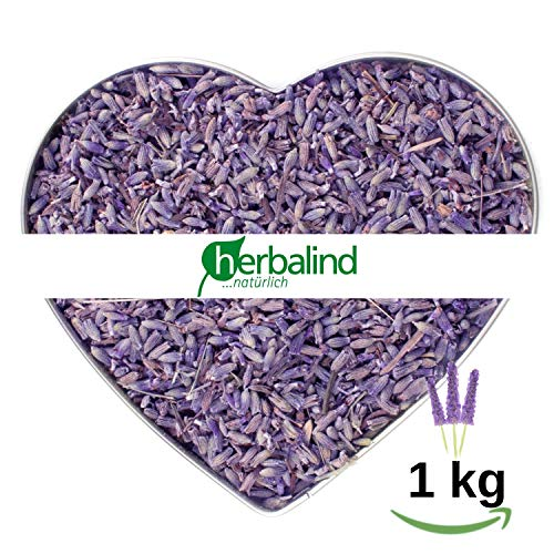 NATUR Premium Lavendel 1 kg Lavendelblüten getrocknet ohne Zusätze - Duftintensiv und naturbelassen, sonnen getrockneter Lavendel Blüten zum Füllen von Duftkissen, Duftsäckchen, Lavendelsäckchen -