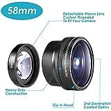 Neewer 58 mm 58 mm 0, 21X objetivo ojo de pez para cámara réflex digital Canon Nikon Sony