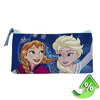 Disney Frozen- Estuche portatodo Plano Doble (Artesanía Cerdá 2100001262)