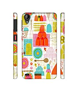 NattyCase Sweets Design 3D Printed Hard Back Case Cover for HTC Desire 530