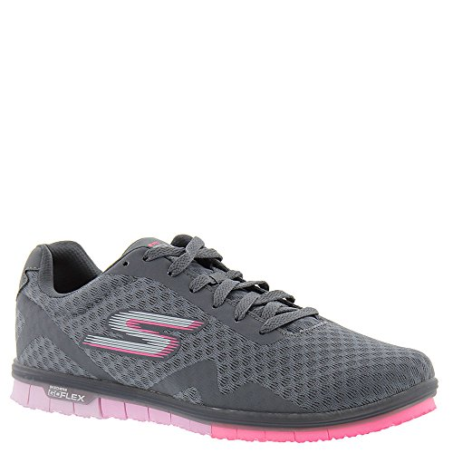 Skechers Performance Go Mini Flex Speedy Charcoal-pink