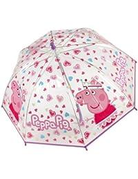 Regenschirm mit Peppa Pig 45cm Kinderschirm Mädchen Girls Prinzessin transparent durchsichtig