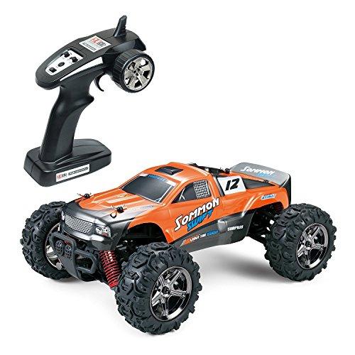 24 1 4x4 Car Rc (Ferngesteuerte Autos für Draussen, LYL RC Auto Elektrisch 4WD 1 24 RTR 40km/h, 2.4ghz RC Offroad Buggy, Schnelles Ferngesteuertes Auto Wiederaufladbar(Orange))