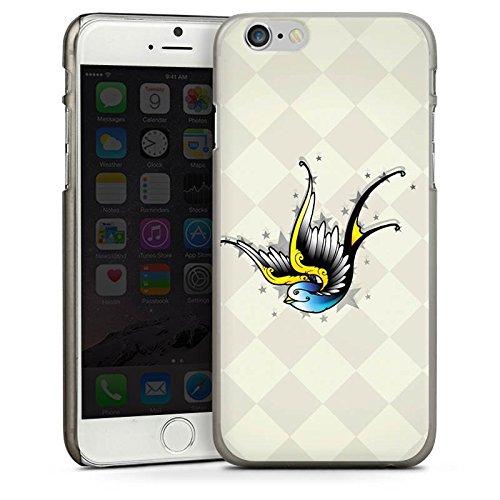 Apple iPhone 5 Housse Étui Silicone Coque Protection Oiseau Simulation Art CasDur anthracite clair