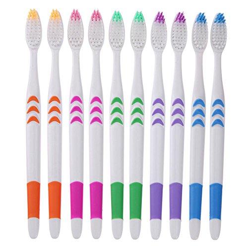 affeco 100/Pack Professionelle Soft Zahnbürsten Mund reinigen Nano Oral Care Bürste (Zahnbürste Pack)