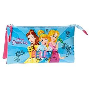 Princesas Disney-4084361 Neceser Estuche portatodo Tres Compartimentos, Multicolor, 22 cm (Joumma 4084361)