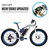 RICHBIT 1000W / 48V / 17AH Elektrofahrräder 26 '' MTB * 4 '' Big Tire 7 Stufen von Pedal Assisted LCD Display Tachometer 45-65KM Lithium-Ionen-Akku
