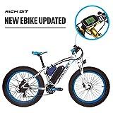 RICH BIT 1000W/48V/17AH Vélos électriques VTT 26''*4'' Gros Pneu 7 Niveaux de...