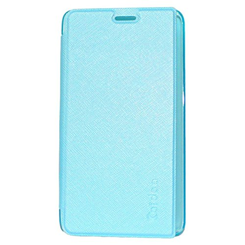 Eaxes™ Caidea Flip Case Cover With Silicon TPU Back For Moto G5S Plus, Sky Blue