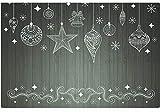 matches21 Tischsets Platzsets Motiv Mono Weihnachten Weihnachtsdeko & Holz in schwarz & weiß 6er Set Kunststoff je 43,5x28,5 cm abwaschbar