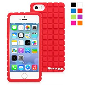 Snugg iPhone SE, 5s and 5 Silicone Case in Red- Non-Slip Material, Protective and Soft to Touch for the Apple iPhone SE, 5s and 5