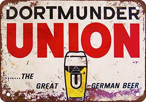 metalsigns Dortmunder Union Bier Vintage Look Reproduktion Metall blechschild 20,3x 30,5cm (Antike Bier Zeichen)