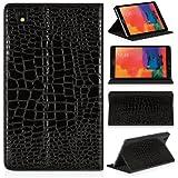 DONZO Wallet Kroko-Style Tablet Tasche für Samsung Galaxy Tab Pro 8.4 T320 T325 Schwarz
