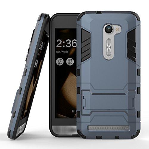 wkae & reg; Huawei P8Case, 2in 1New Man Eisen Stil Hybrid Dual Layer Rüstung Defender PC Hard Cases mit Standfunktion [stoßfest Case] für Huawei Ascend P85.2Zoll von diebell Blau/Schwarz