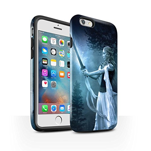 Officiel Elena Dudina Coque / Brillant Robuste Antichoc Etui pour Apple iPhone 6S+/Plus / Reine des Glaces Design / Super Héroïne Collection Épée Magique