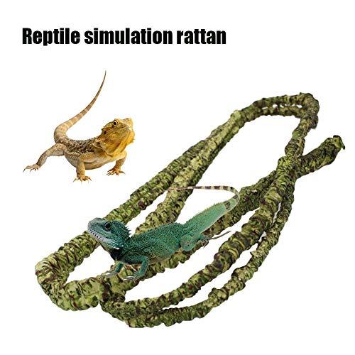 likeitwell Plantas de hábitats de Anfibios para Reptiles - Subida Flexible para lagartos, Ranas, Serpientes y más Reptiles