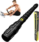 Muscle Roller Stick Pro, Best Sports Massage Tool for Sore Muscles, Releasing Cramps, Back Tightness, Myofascial, Trigger Points Pain, Legs Lactic Acid, Knots, & Calf Soreness Massager, eGuide