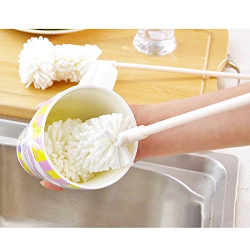 LCNSW Flaschen Reinigungsbürsten Milchschlauchbürste Schlauchbürste für Teekanne Duse Espressomaschinen,Wasserpumpen,Getränke Strohhalme, Gläser,Tastaturen, Schmuck Reinigung und Mehr Schwamm waschen Topfbürste Flasche Wasser-Reinigungsbürste Sauberes Wasser Stroh