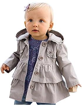 iEFiEL Abrigos para Niñas Bebés 6 Meses a 6 Años Chaquetas con Capucha de Otoño Invierno Algodón