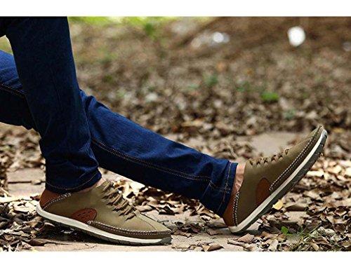 ZXCV Outdoor Schuhe Männer Casual Schuhe Hand-genäht atmungsaktive Männer Schuhe Pedal faulen Schuhe Khaki