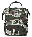 Oflamn Sac à Dos pour Ordinateur Portable Sac à Dos en Toile Sac d'école Unisexe Vintage Daypack pour Les Hommes et Les Femmes, Collège et Kid (3.0 Camo)