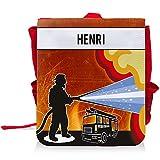 Kinder-Rucksack mit Namen Henri und schönem Feuerwehr-Motiv für Jungen