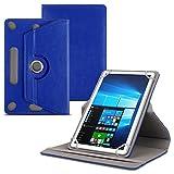 UC-Express Schutzhülle für Captiva Pad 10.1 Zoll Tablet Kunst-Leder Standfunktion Hülle Schutztasche Tasche 360° Drehbar Tablettasche, Farben:Blau
