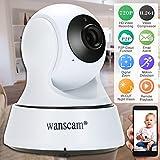 Wanscam HD 720p Caméra IP Mégapixels WiFi Pan Tilt Réseau Sans Fil Nuage Intérieur Support PTZ TF Carte Record 2 Voies Parler P2P Android/iOS APP IR-CUT Filtre Infrarouge Nuit Vue