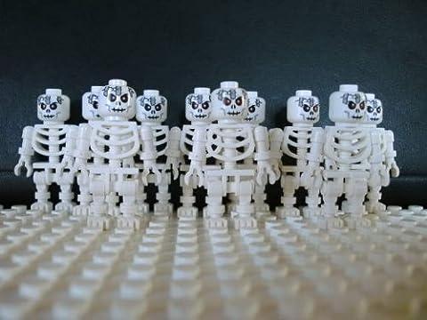 LEGO 10 squelettes avec tête rare / 10 x squelette LEGO