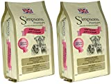 2x 12kg Simpsons Premium Adult Sensitive salmone e patate Dry Dog Food Multibuy
