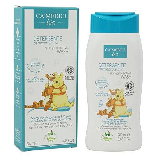 CA MEDICI BIO - Disney Baby Baño Protectores de la Piel y del Cuerpo para Bebés - con Extractos de Avena, Manzanilla y áloe Vera Extraídos - Made in Italy - 250 ml