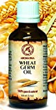 Weizenkeimöl 100ml - USA - Kaltgepresst & Raffiniert - 100% Rein & Natürlich - Glasflasche - Basisöl - Pflege für Gesicht - Körper - Haare - für Schönheit - Massage - Körperpflege - Weizenkeim Öl