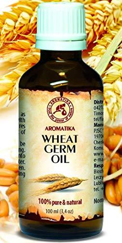 Weizenkeimöl 100ml - Usa - Kaltgepresst & Raffiniert - 100% Rein & Natürlich - Glasflasche -...