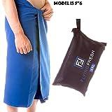 Asciugamano in Microfibra XL & XXL Asciuga Subito Compatto Per Viaggi, Spiaggia, Doccia, Bagno da Flying Fresh Assorbente, Ideale per lo Sport, Palestra, Yoga, Campeggio, Nuoto + E-book Gratuito