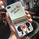 Coque iPhone 7 et iPhone 8 Minnie Mickey Mouse Effet Miroir Design Silicone Souple