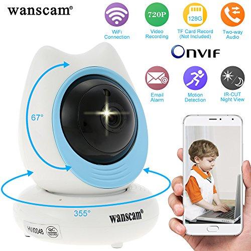 Wanscam® 720P HD Senza Fili Pan Tilt IP Telecamera APP Controllo Visione Notturn Supporta TF Scheda Registrazione Sicurezza Sorveglianza Domestica