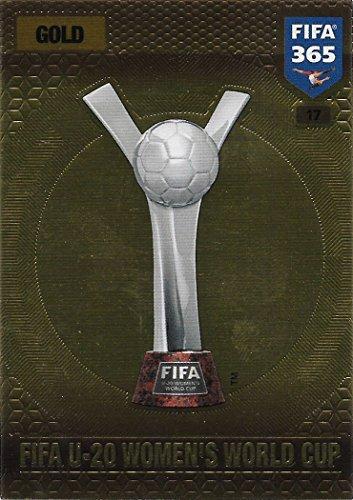Preisvergleich Produktbild Panini FIFA 365 Adrenalyn XL 2017 - #17 - FIFA U-20 Women's World Cup (Gold)