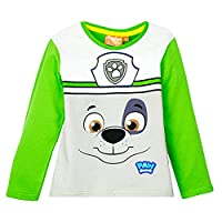 Paw Patrol Boys Long Sleeve Top - NEW 2016 COLLECTION - GREEN 4Y